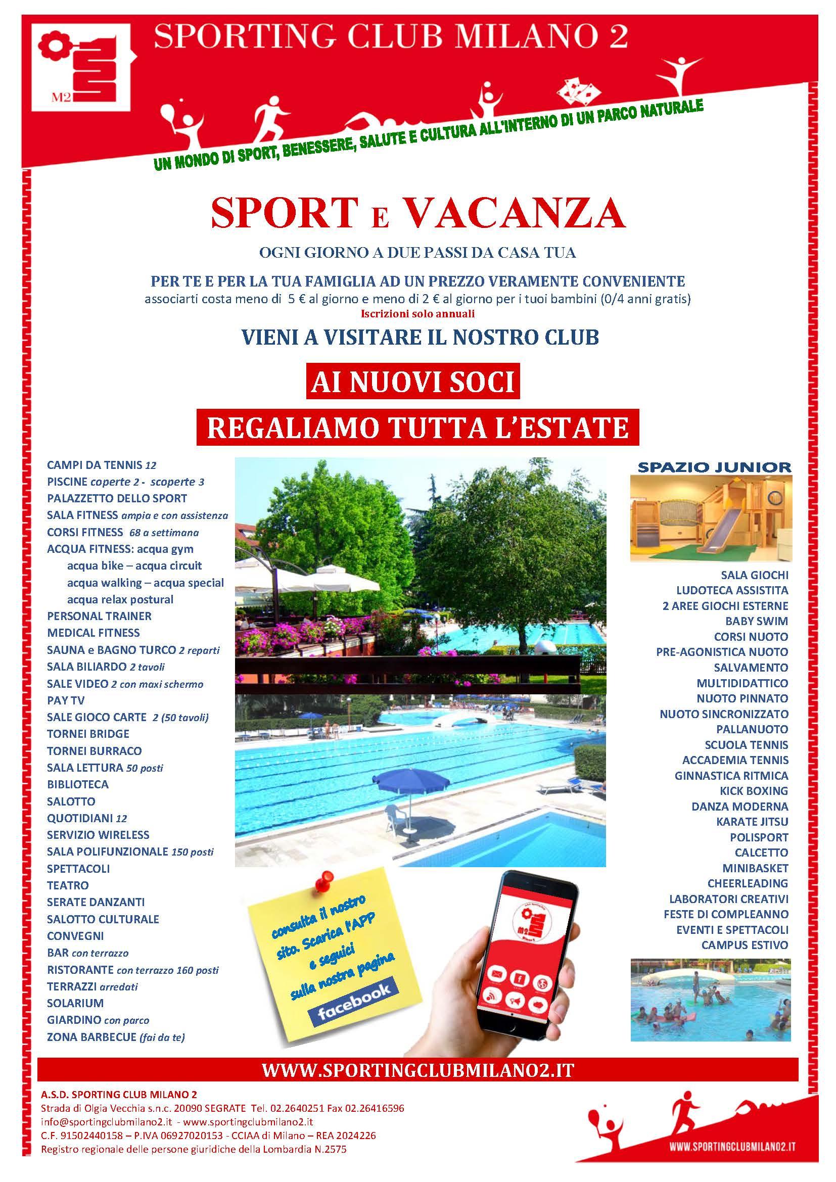 248fed9ac7f1 Sporting Club Milano 2 - Home