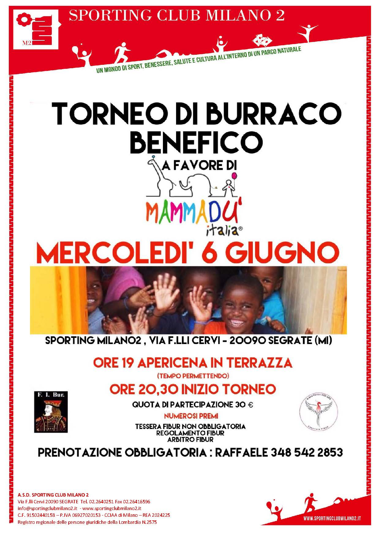 TORNEO DI BURRACO BENEFICO